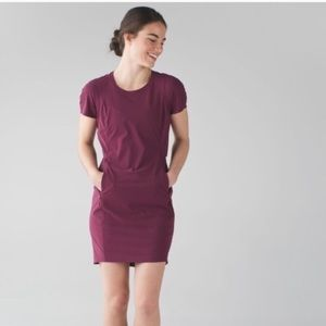 Lululemon &go Endeavor Dress Red Grape Burgundy 4